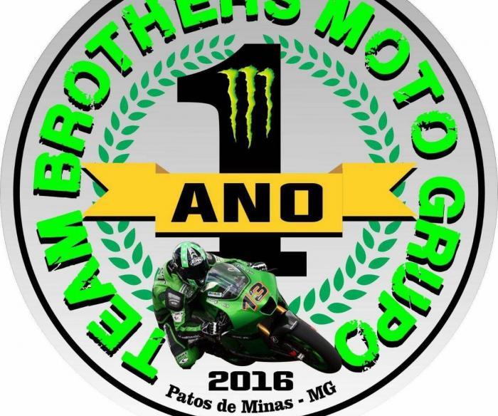 Motogrupo Team Brothers de Patos de Minas comemora em Lagoa Formosa aniversário de 1º ano de existência