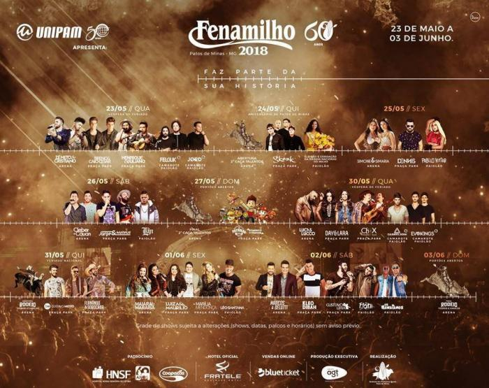 Festa de lançamento da FENAMILHO 2018 tem Bruno e Marroni