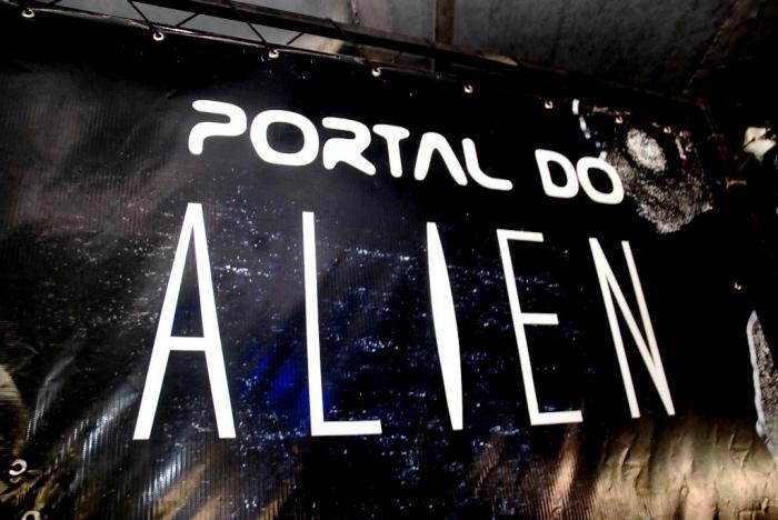 Conheça no pátio Central Shopping o portal do Alien, um labirinto de terror
