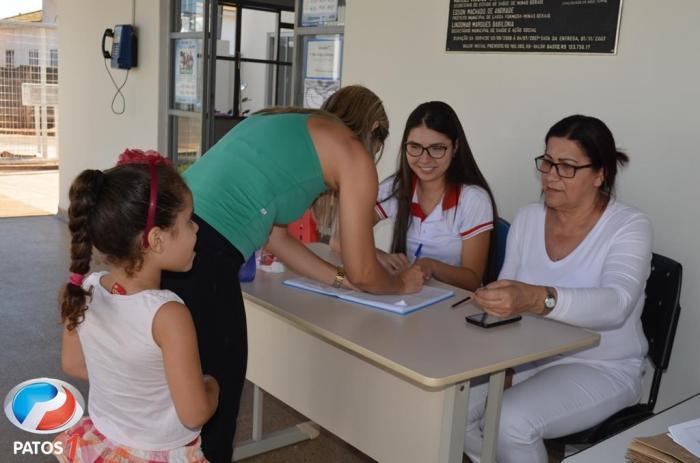 Secretaria de Saúde de Lagoa Formosa realiza campanha para atualização de Carteira de Vacinação
