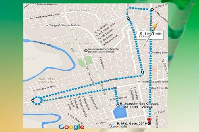 confira quais serão os pontos que a tocha olímpica percorrerá em sua passagem pela cidade de Patos de Minas