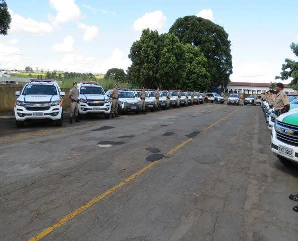 Décima região de Polícia Militar recebe em Patos de minas 29 novas viaturas entregues pelo estado