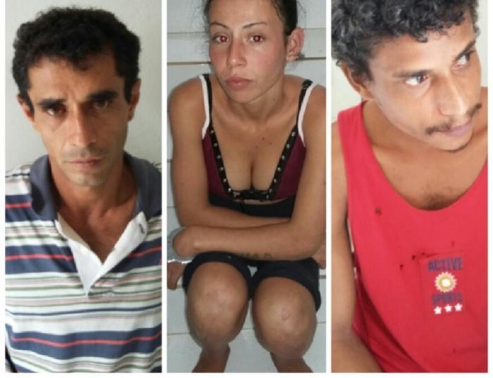 Três pessoas são presas em Lagoa Formosa acusadas de envolvimento em roubo praticado contra pedestre