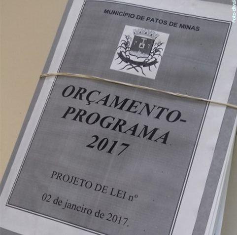 Câmara dos veredores de Patos de Minas deve votar nesta quarta o orçamento do município para 2017