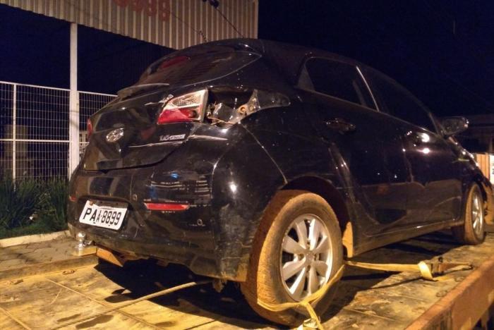 PM de Lagoa Formosa apreende veículo roubado que pode ter sido usado em tentativa de arrombamento nos Correios