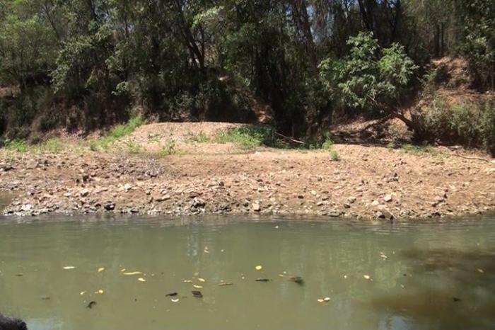 Seca e esgoto ameaçam o Rio Paranaíba na cidade de Patos de Minas