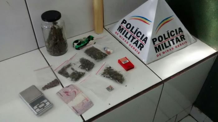 Operação das polícias Militar e Civil apreende diversos tipos de drogas em Patos de Minas