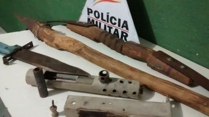 Morador de Lagoa Formosa é preso após desferir golpe com arma de fabricação artesanal em vizinho
