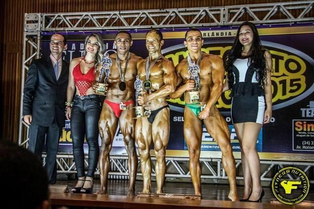 Atletas de Presidente Olegário se destacam no Campeonato Mineiro de Fisiculturismo realizado em Uberlândia