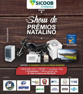 CDL de Lagoa Formosa realiza nesta sexta (30) na Praça da Matriz o sorteio da promoção Show de Prêmios Natalino