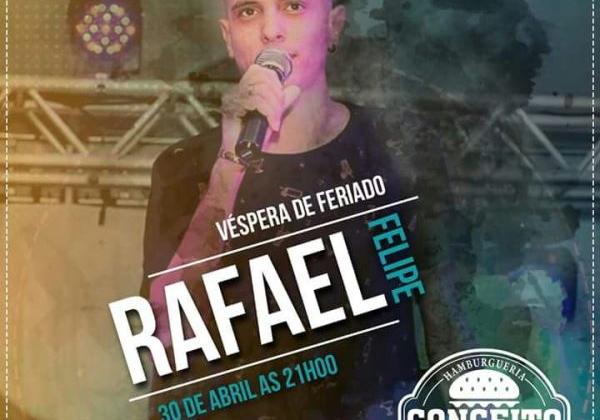 Cantor Rafael Felipe se apresenta na Conceito Hamburgueria nesta segunda-feira (30)