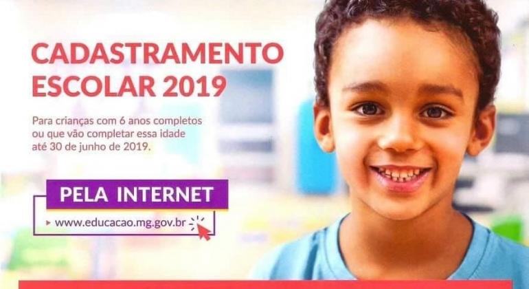 Cadastramento Escolar 2019 para a rede pública começa na próxima segunda-feira