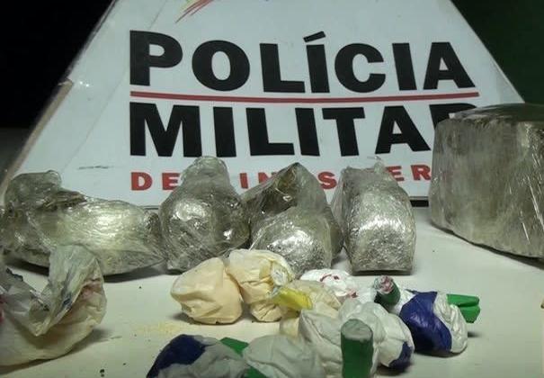 Polícia Militar apreende cocaína e maconha em Patos de Minas