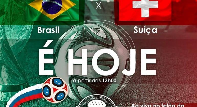 Assista no telão da Hamburgueria Conceito a estreia da Seleção Brasileira na Copa do Mundo 2018
