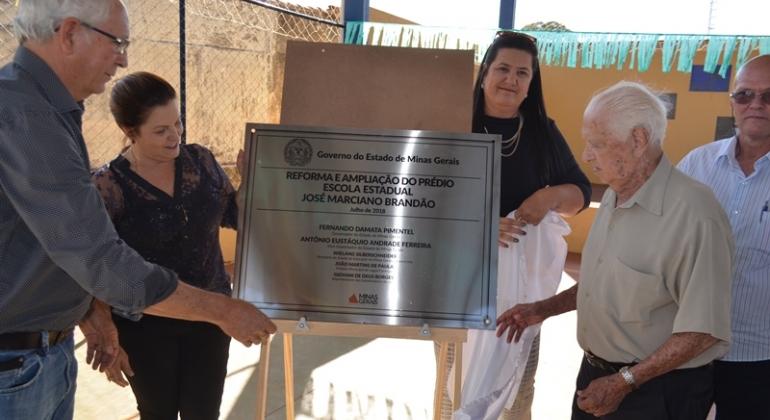 Escola Estadual José Marciano Brandão de Monjolinho inaugura ampliação do educandário e construção de quadra