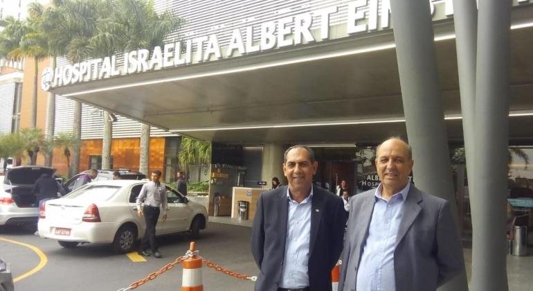 Prefeito de Patos de Minas tenta parceria com Hospital Albert Einstein de São Paulo