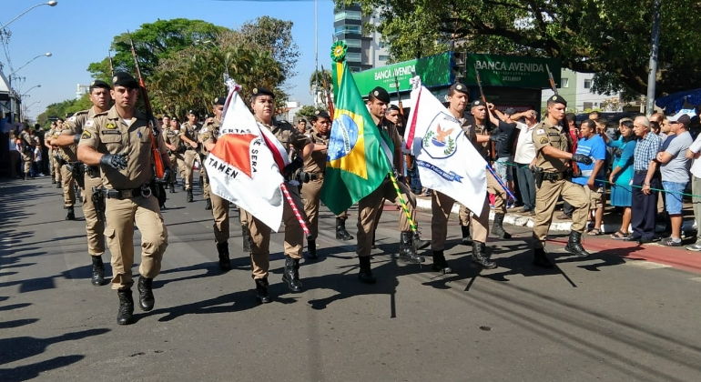 Sessão Cívica e Desfile marcam comemoração de 7 de setembro em Patos de Minas