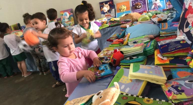 Centro Educacional Maura Ferreira Brandão recebe da prefeitura coleção de livros