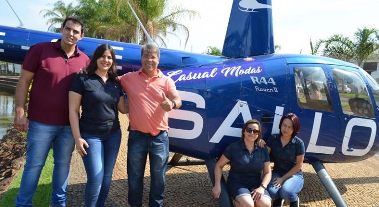 Casual Modas e SALLO realizam manhã de voos panorâmicos na cidade de Lagoa Formosa