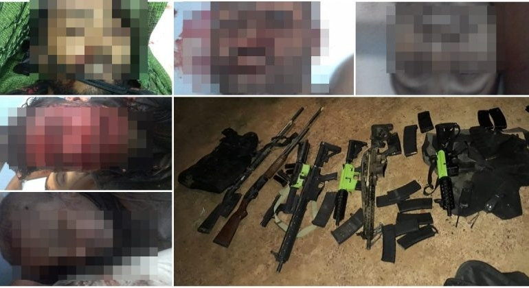 Cinco bandidos morrem em confronto com policiais civis e militares na zona rural de Brasilândia de Minas