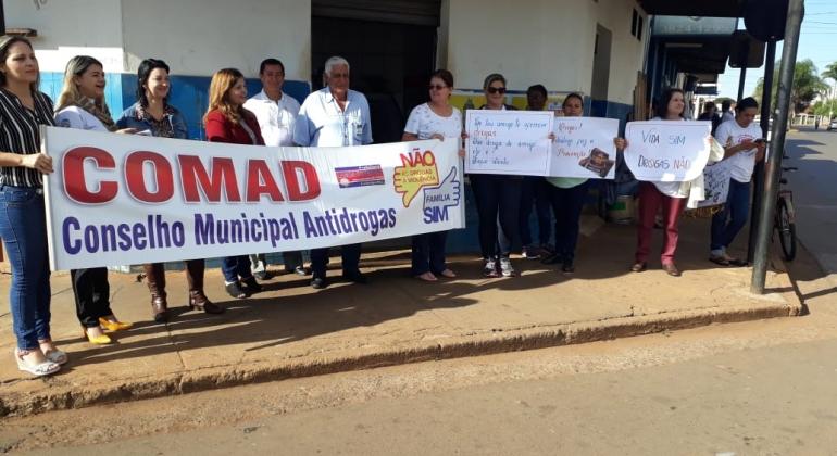 Secretaria de Desenvolvimento Social e Secretaria de Saúde realizam ação de combate às drogas em Lagoa Formosa