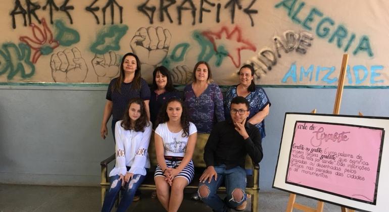 Escola Estadual Coronel Cristiano de Lagoa Formosa realiza 1ª Exposição de Arte em Grafite