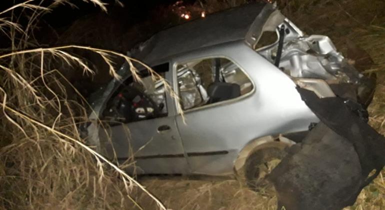 Tragédia: Palio com 7 ocupantes se envolve acidente na BR-354 e 4 pessoas morrem