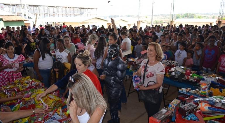 Prefeitura de Lagoa Formosa e parceiros realizam festa para comemorar o Dia das Crianças