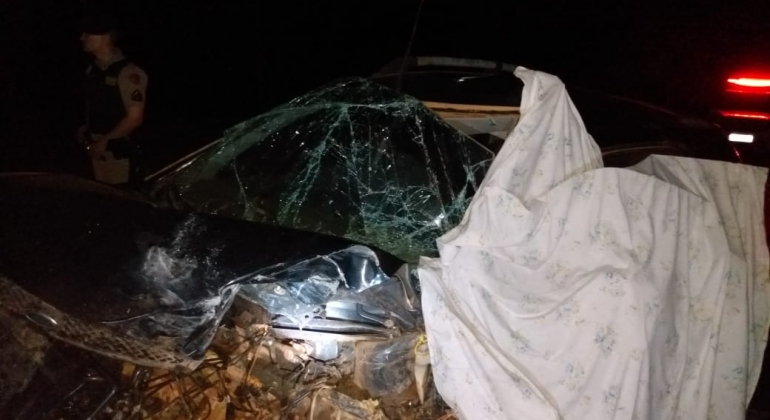 Duas pessoas morrem em batida frontal na LMG-740 no município de Lagoa Grande