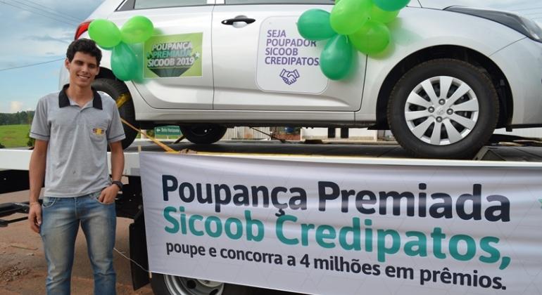 Lagoa Formosa: SICOOB Credipatos realiza entrega de HB20 Zero Km para sorteado da promoção Poupança Premiada