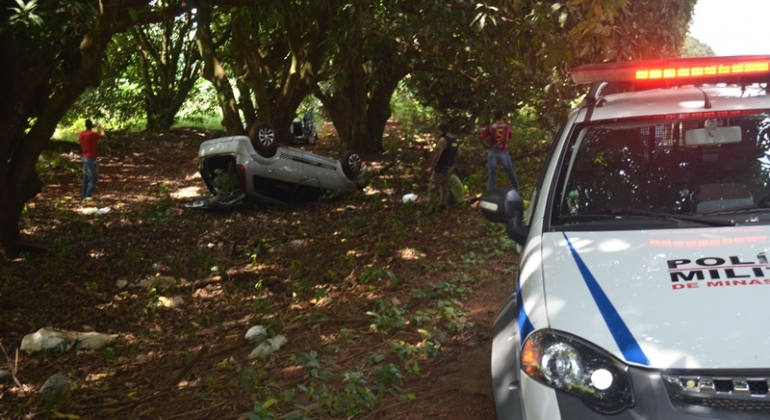 Motorista embriagado provoca grave acidente na BR-354 no município de Lagoa Formosa