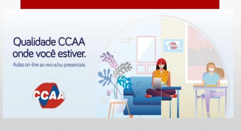Informe publicitário CCAA: estude um novo idioma de onde você estiver