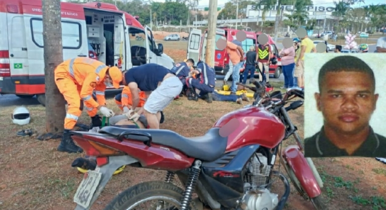 Motociclista que sofreu acidente em companhia da namorada em Patos de Minas morre no Hospital