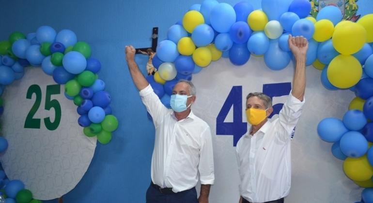 Partidos PSDB e Democratas realizam convenção em Lagoa Formosa e lançam candidatos a prefeito, vice e vereadores