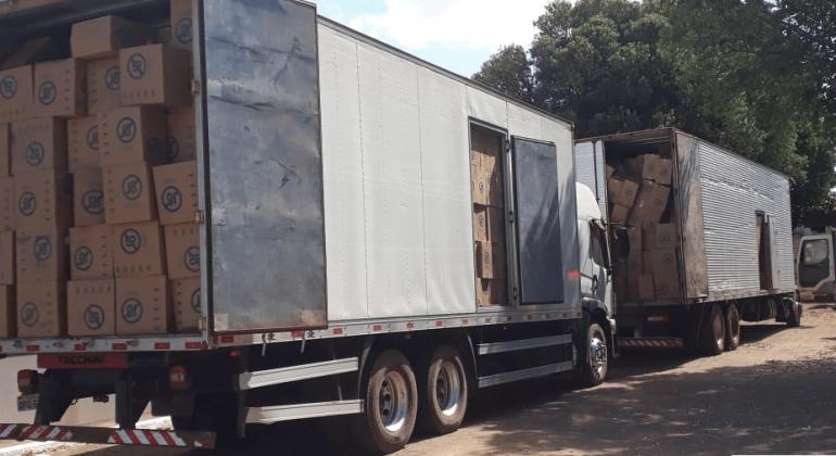 Cargas de cigarros roubadas em Patos de Minas são recuperadas no Norte de Minas