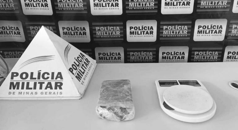 Homem de 30 anos é detido com aproximadamente 500 gramas de maconha em Guimarânia