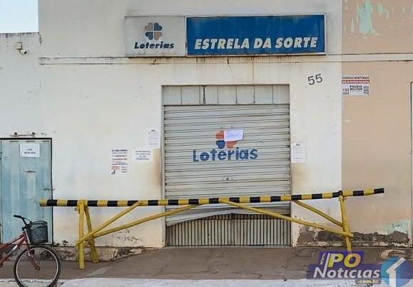 Bandidos arrombam lotérica e fogem levando cofre na cidade de Lagamar